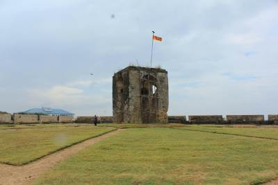 Tower on one of the five corner bastions