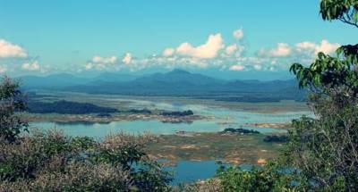 Senanayake Reservoir as seen from Punchi Sri Padaya