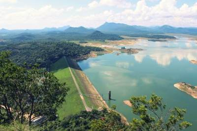 Bund of Senanayake Reservoir