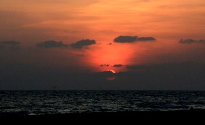 Sun rise at Chundikulam beach