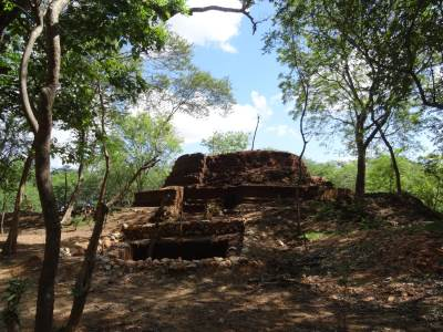 The small stupa on top