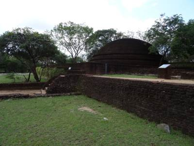 One of the crematory stupas