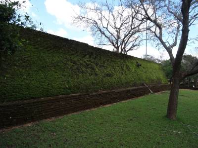 The wall where the terraced layout is in place, Kiri Vehera is in that level