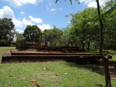 A structure before the stupa