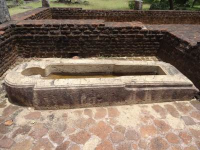 Here's the stone trough