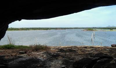 lake view from the cave