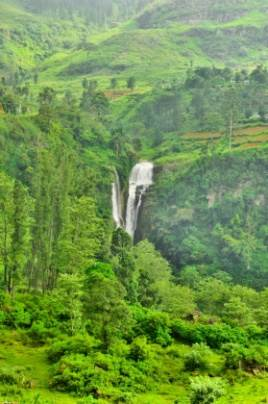 Close up view of the Ramboda falls.