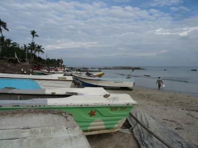 The fishing vessels nearby