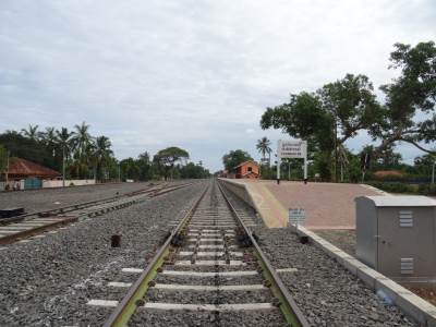 Newly built Chunnakam station