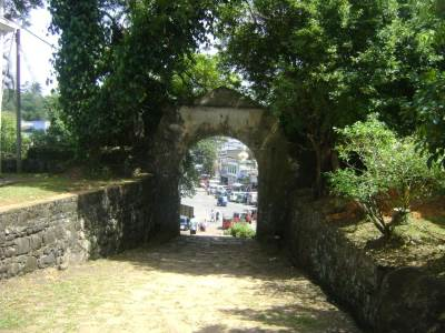 The entrance seen from the inside of the fort