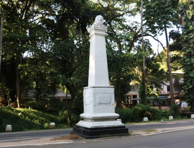 The monument to commemorate Matale Rebellion.