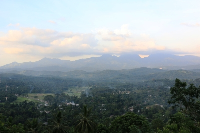 View of Knuckles range from Serugala