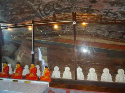 Inside and the main Buddha Statue covered with a glass wall