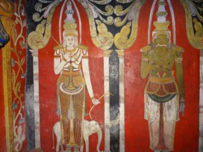 Paintings of God Saman (left) and Kadawara