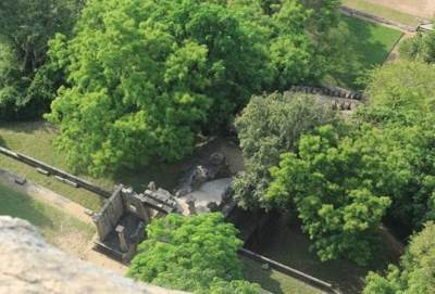 Stairways and Wahalkada seen from the top