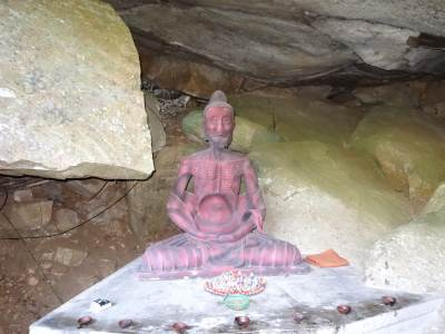 A statue depicting Lord Buddha's unyielding attempt to attain Nirvana
