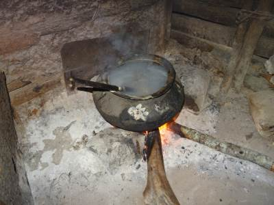 The boiling sap pot