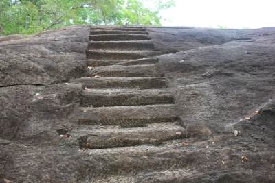 Carved steps