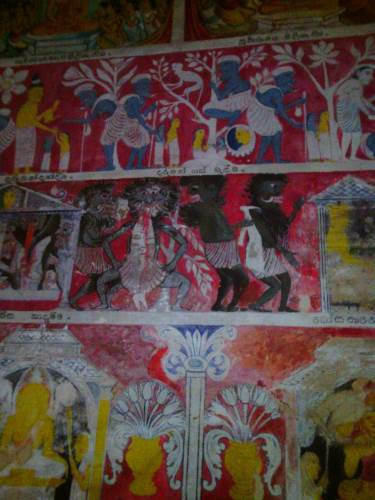 Murals inside the caves