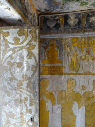 Even the wooden door is full of paintings which is common in Kandyan-era