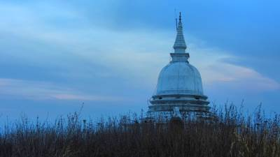 The stupa on top of Hingurakgala