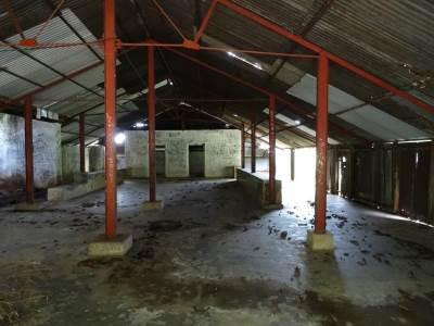 Inside the Warnagala Ambalama, in need of renovation