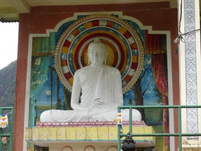 Close up of the Samadhi Buddha