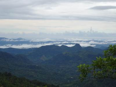 Mountains towards Colombo