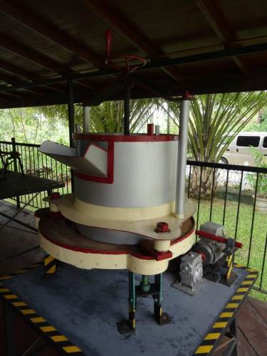 Replica of tea processing plant