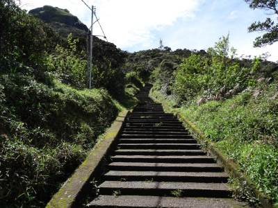 The steps to the summit
