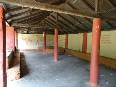 Inside the Seetha Gangula Ambalama