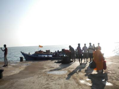 BOAT CAME TO NAGADEEPA JETTY