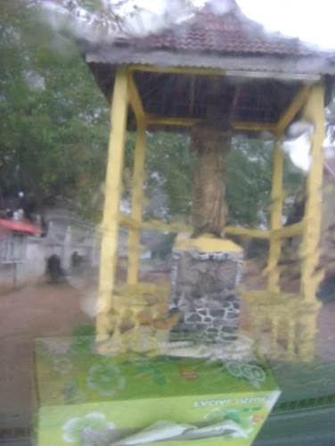The Statue at the entrance to the temple of Ven. Totagamuwe Sri Rahula Maha