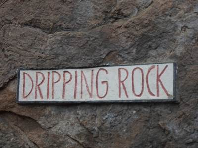 Dripping rock…..