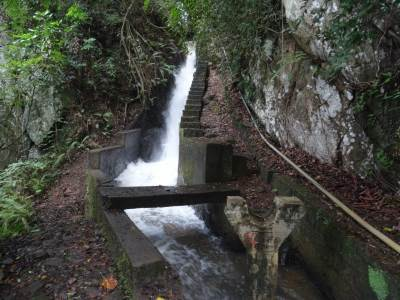 """Peessa Canal Falls"" according to Ashan, this is diverted from the top"